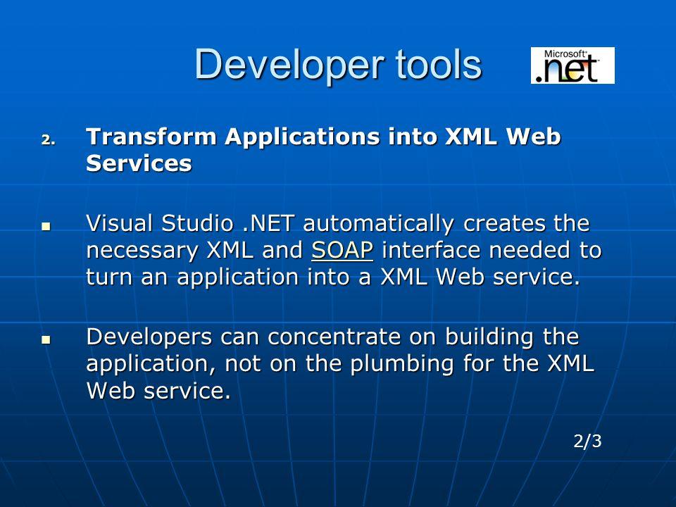Developer tools 2.