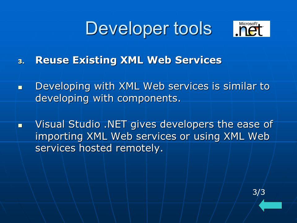 Developer tools 3.
