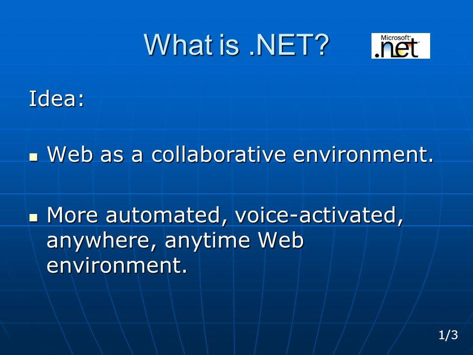 Framework.Net The.NET Framework includes: 1.The Common Language Runtime 2.