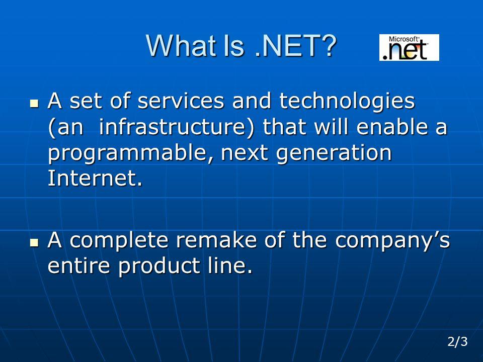 What Is.NET.