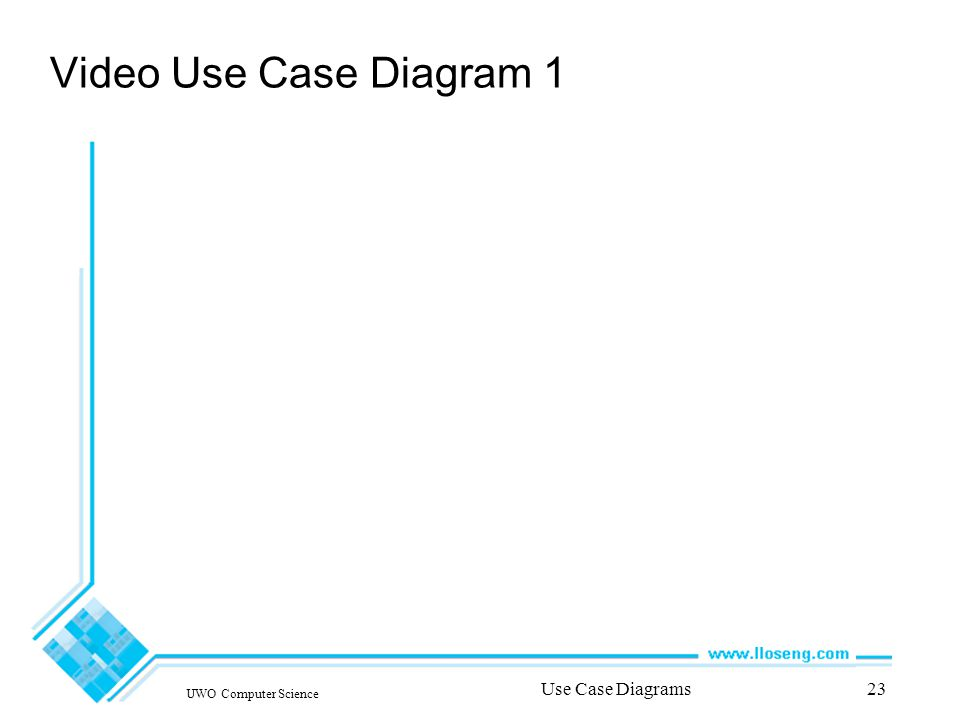 UWO Computer Science Use Case Diagrams23 Video Use Case Diagram 1