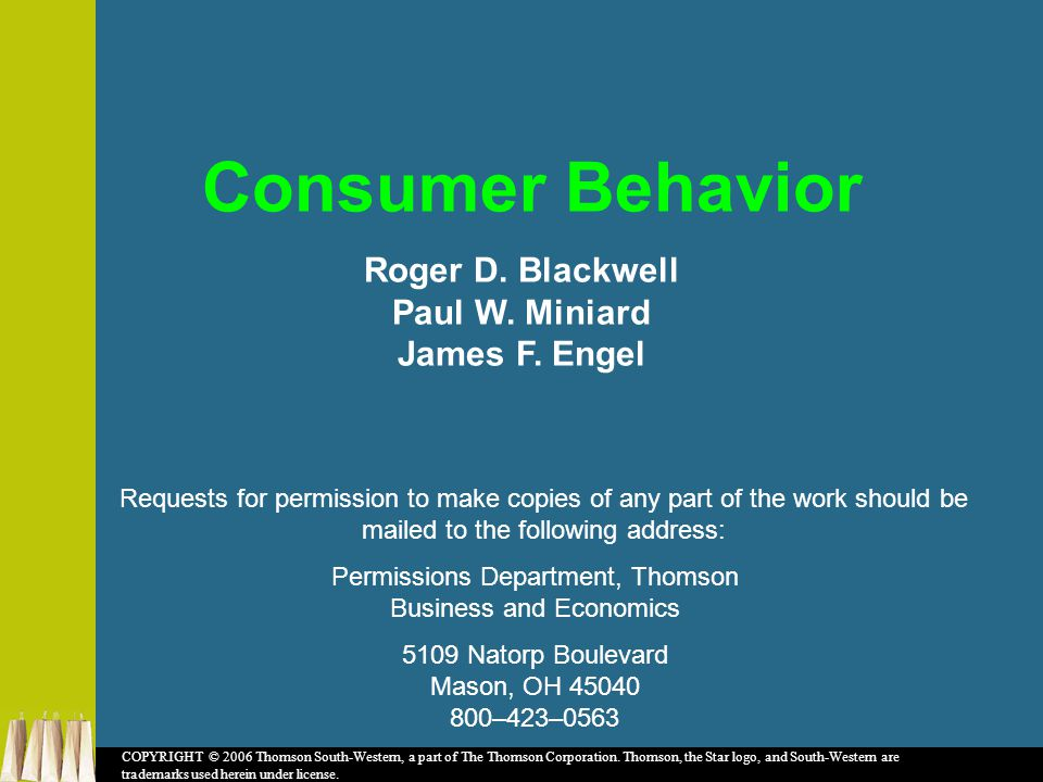 Roger D. Blackwell Paul W. Miniard James F.