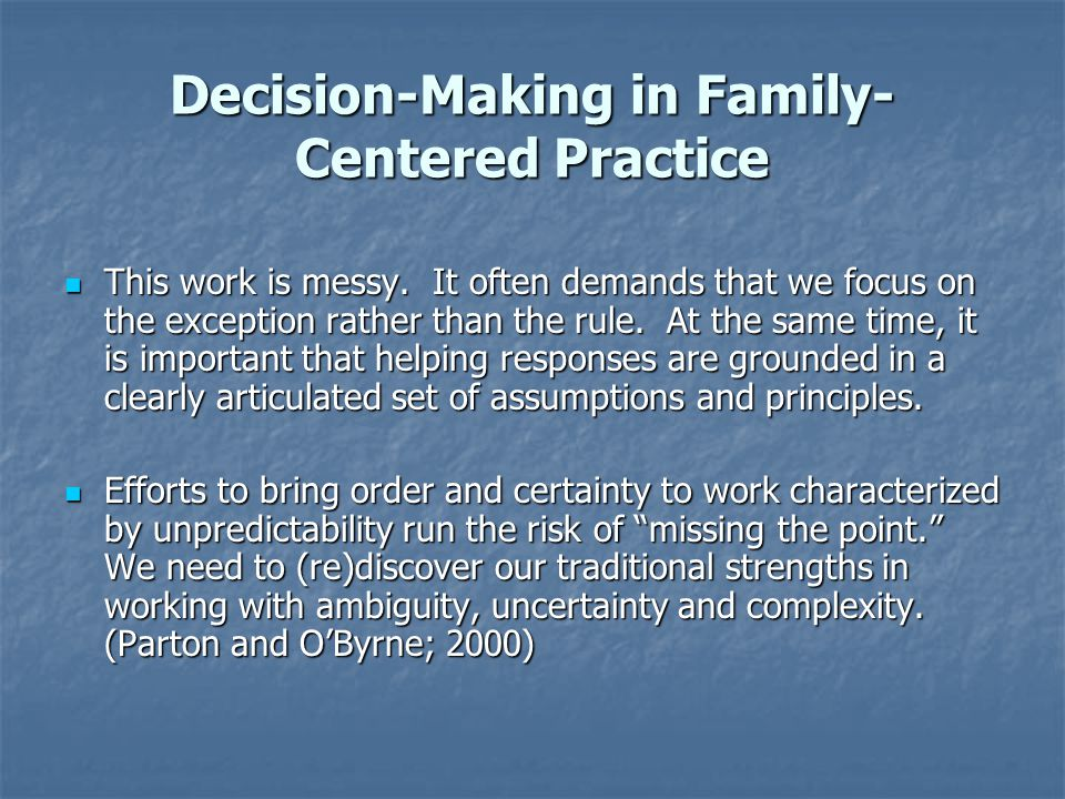 Using Collaborative Helping Maps to Enhance Conversations with Families Collaborative Helping maps can also guide conversations between workers and families about challenging issues in ways that minimize polarization and defensiveness and opens space for reflection and consideration of alternative possibilities.