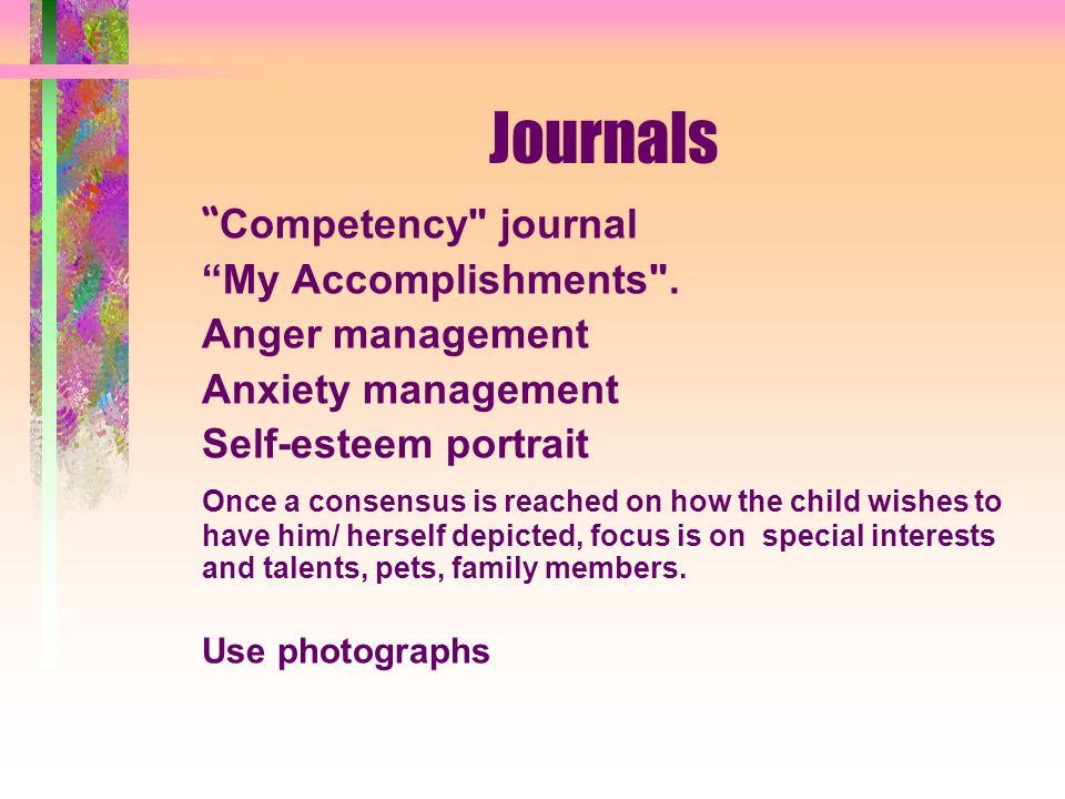 Journals Competency journal My Accomplishments .