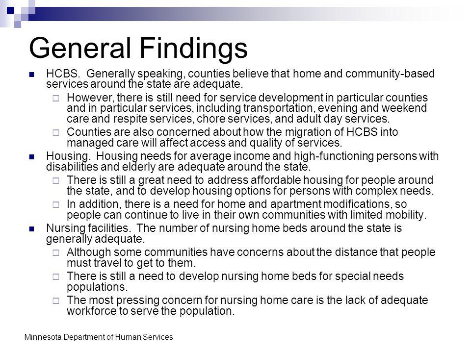 General Findings HCBS.