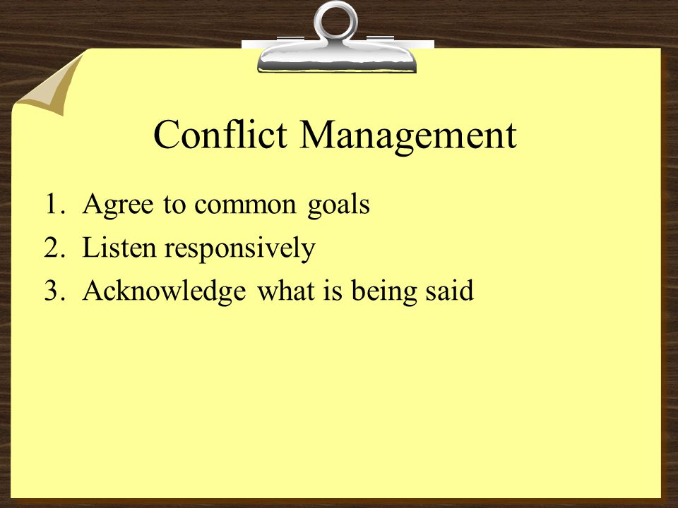 Conflict Goal Identification TYPES OF CONCERNS : 81.