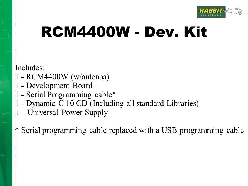 RCM4400W - Dev.