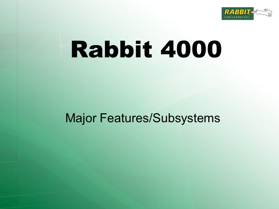 Rabbit 4000 Major Features/Subsystems