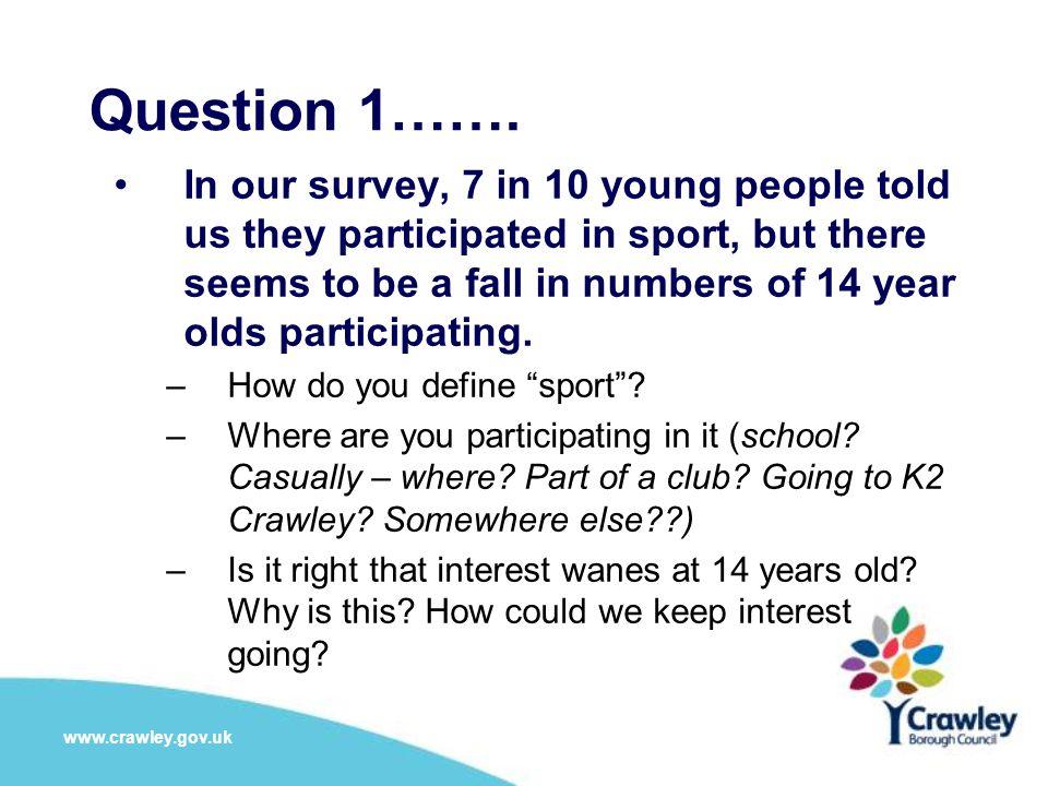 Question 1…….