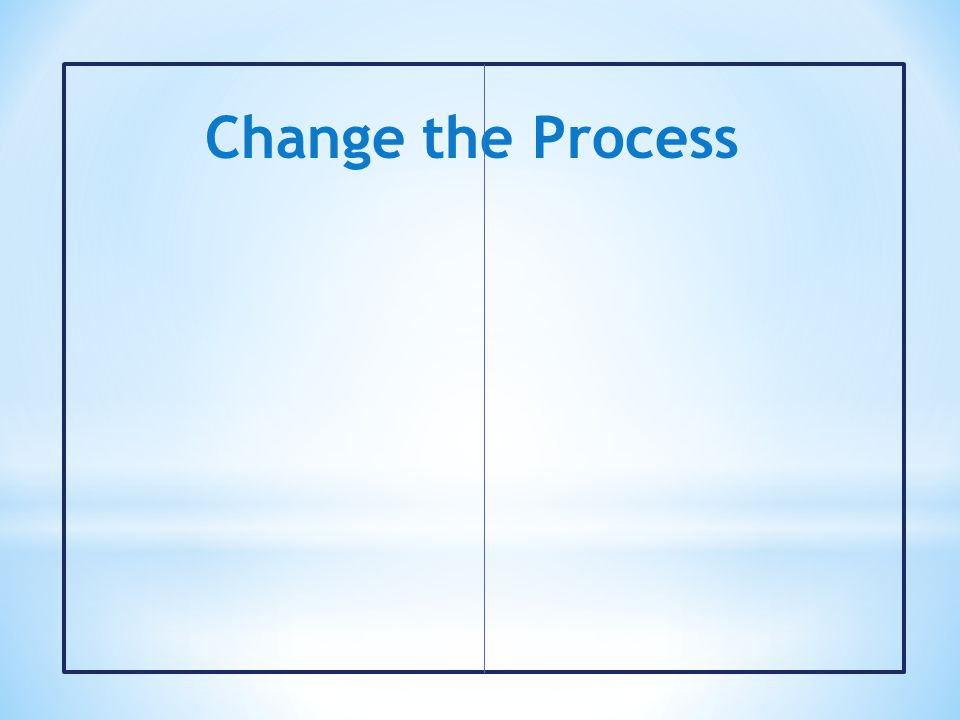 Change the Process