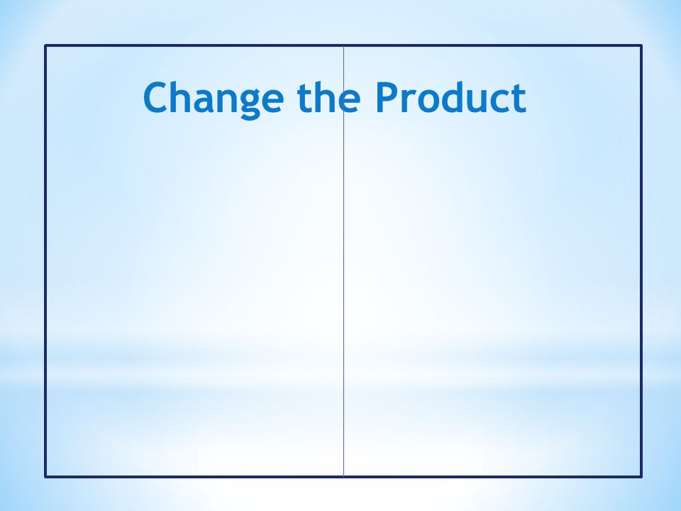 Change the Product