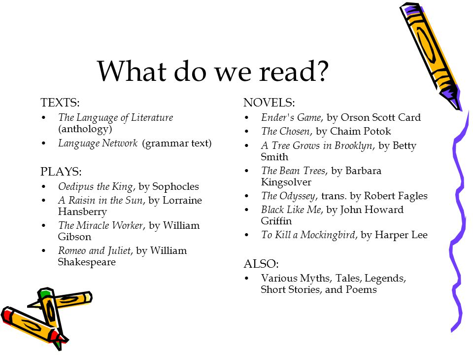 What do we read.