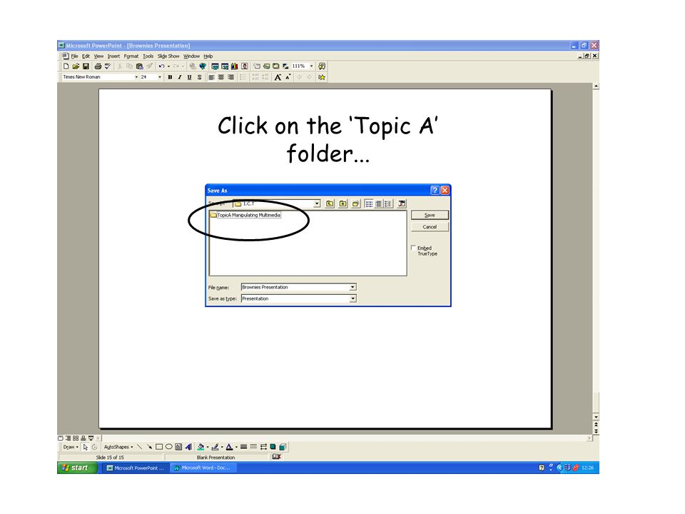 Click on the 'Topic A' folder...