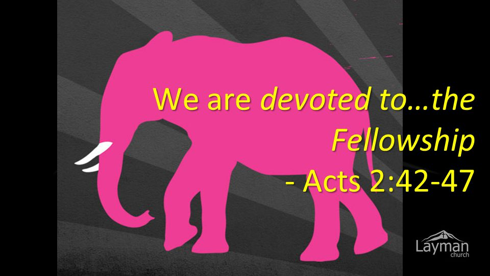 We are devoted to…the Fellowship - Acts 2:42-47