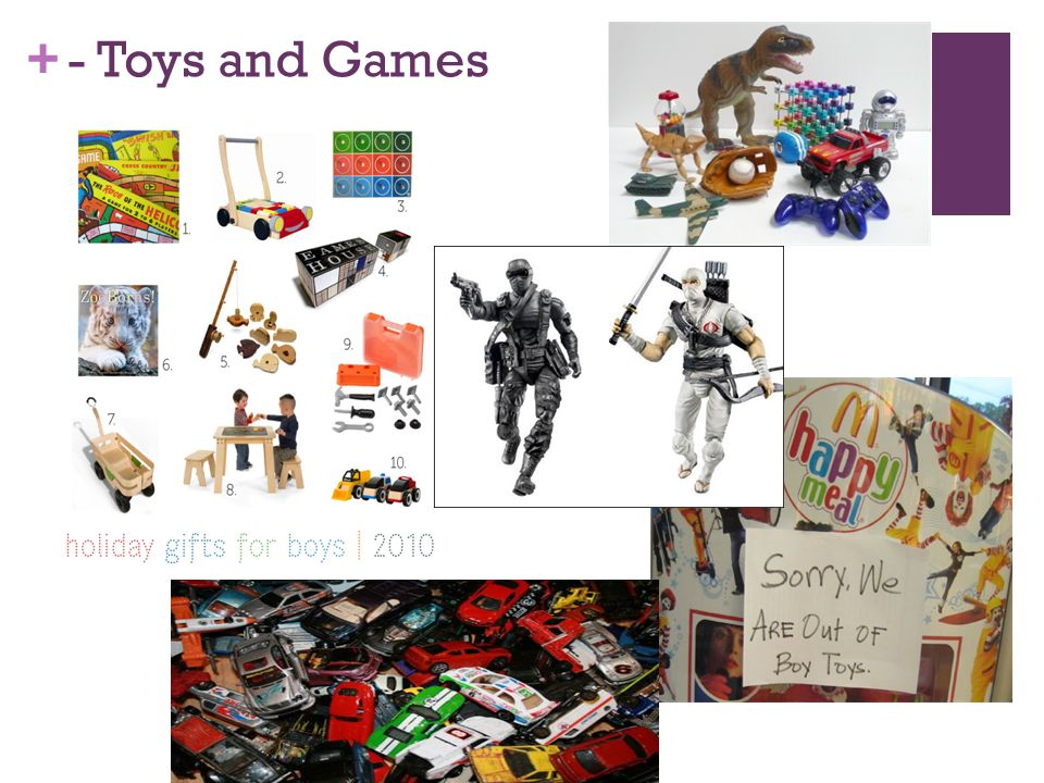 + - Toys and Games