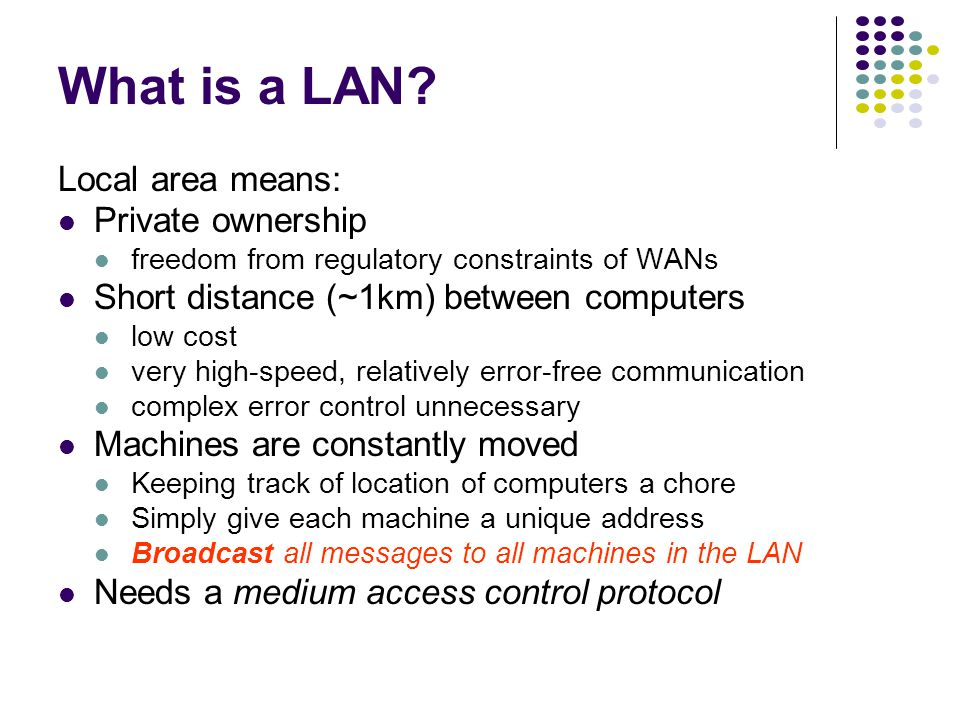What is a LAN.