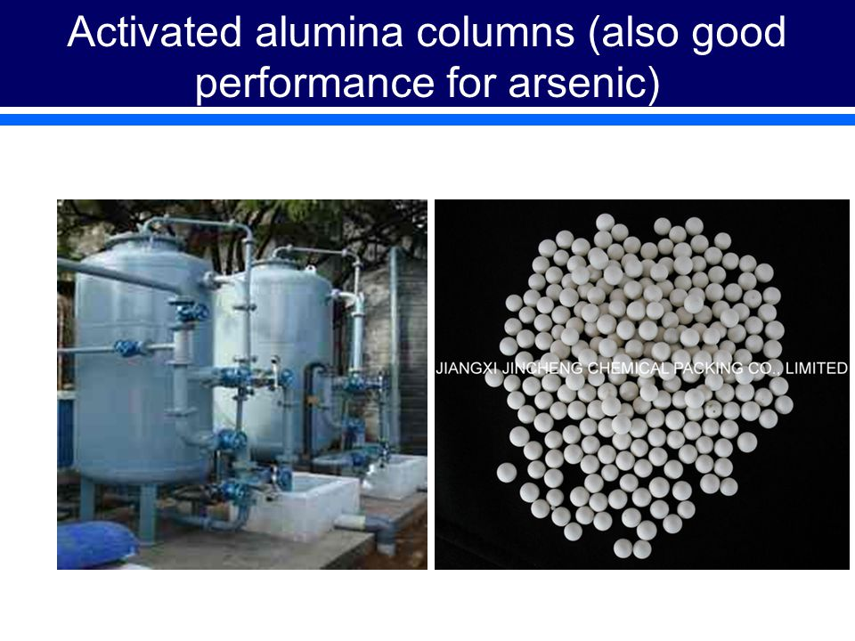 Activated alumina columns (also good performance for arsenic)