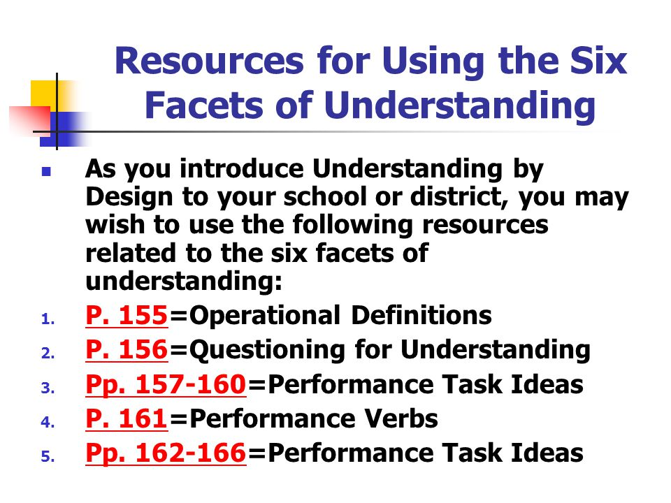"A Reflection Checkpoint "" facets of understanding "" With which of the following "" facets of understanding "" do your students generally perform well? W"
