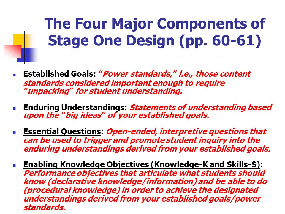"Unpacking Standards "" unpacked, "" Understanding by Design suggests that standards must be "" unpacked, "" with educators building consensus about their"