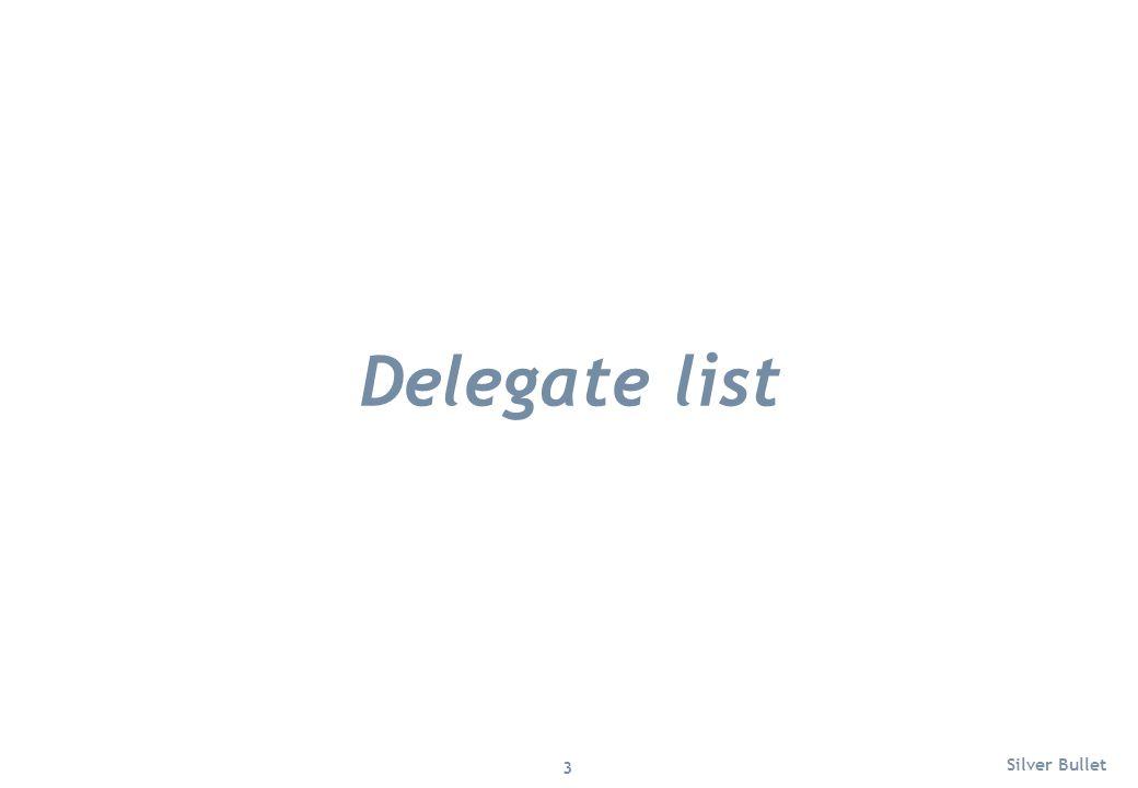Delegate list Silver Bullet 3