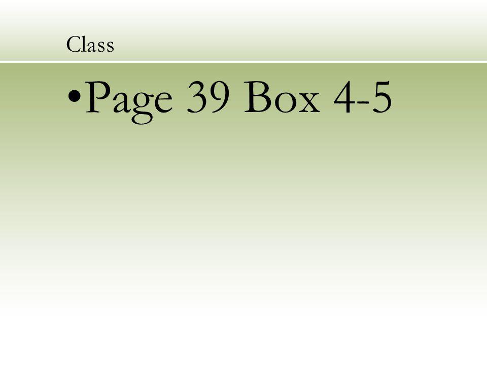 Class Page 39 Box 4-5