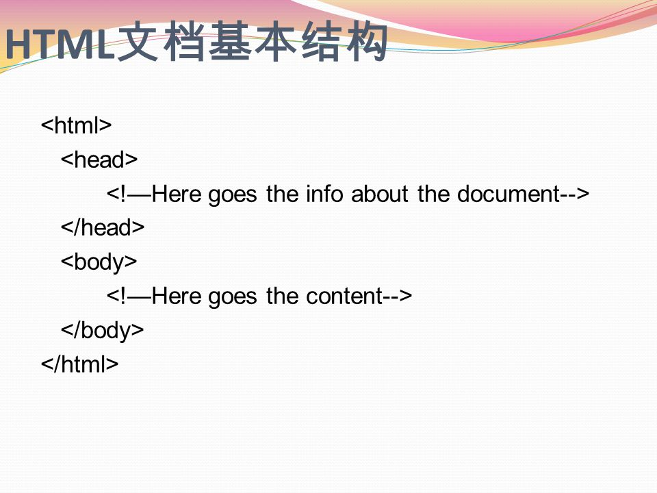 HTML 文档基本结构