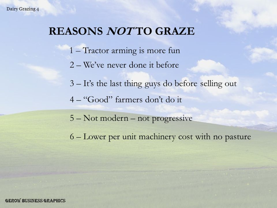 Dairy Grazing 5 Gerow Business Graphics Which List Makes Better Dollars & Sense??