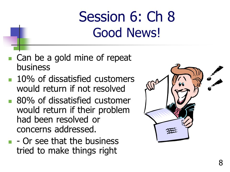8 Session 6: Ch 8 Good News.