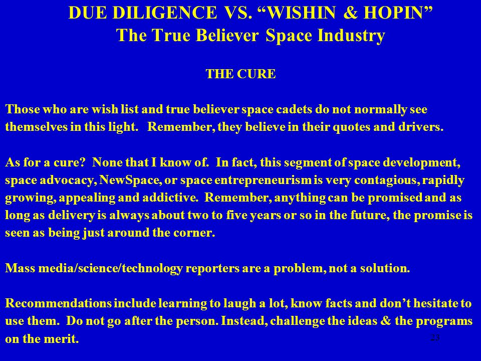 23 DUE DILIGENCE VS.