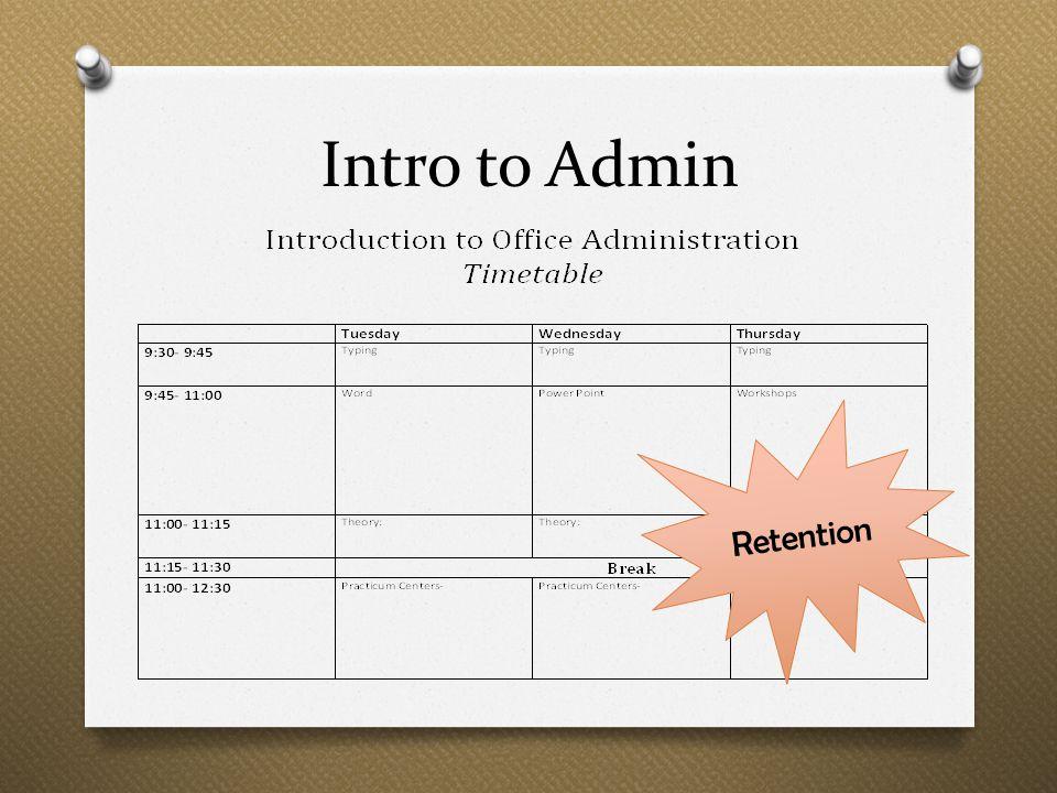 Intro to Admin Retention
