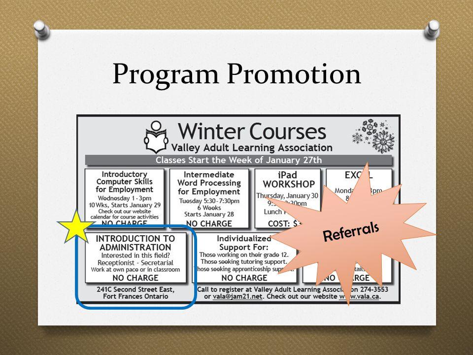 Program Promotion Referrals
