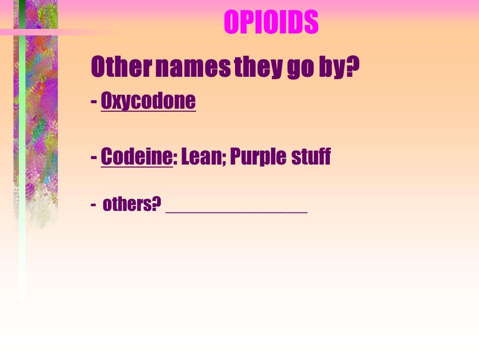 OPIOIDS II.
