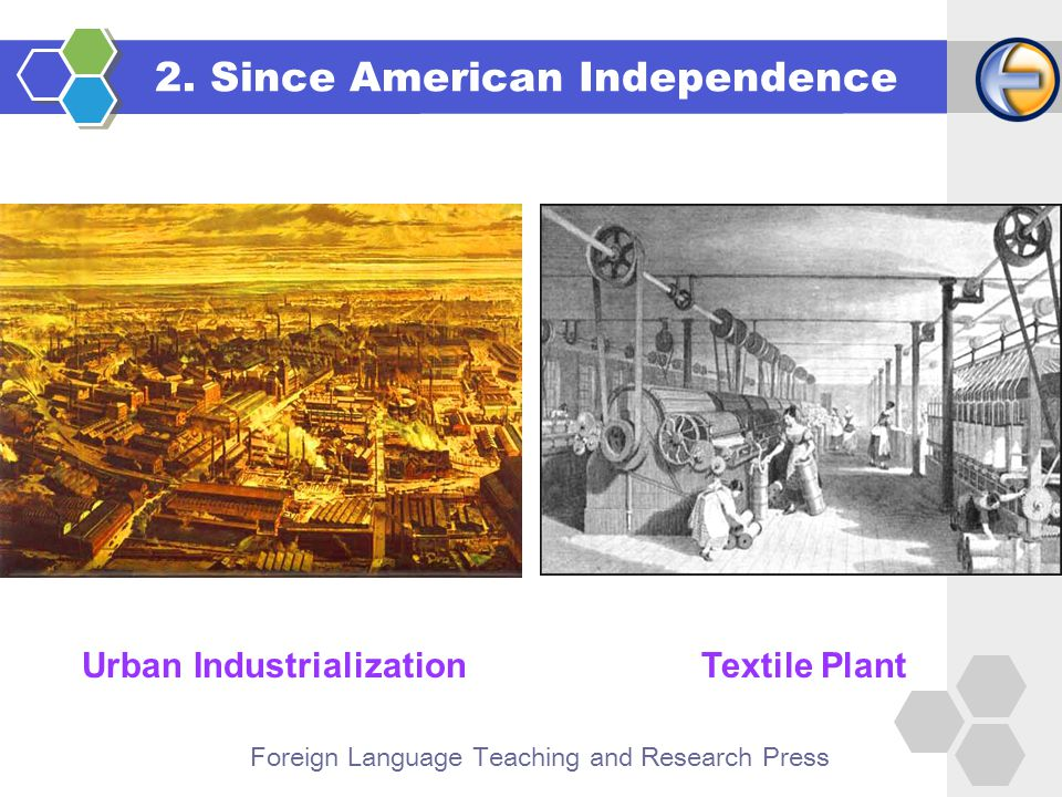 Foreign Language Teaching and Research Press Urban IndustrializationTextile Plant 2.