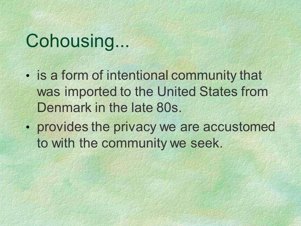 Cohousing...