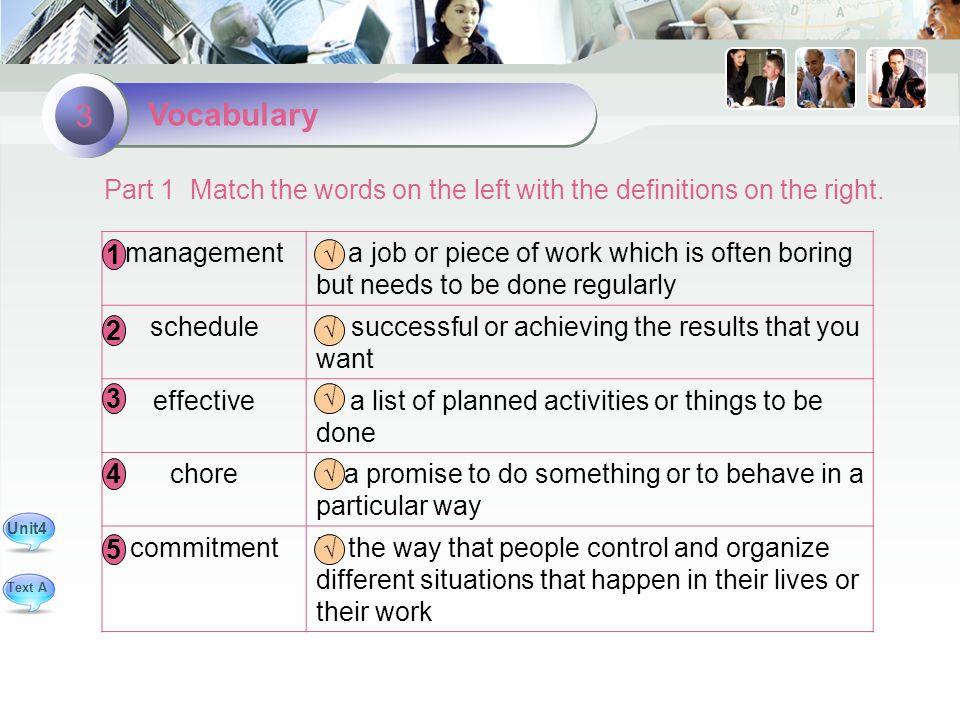 Vocabulary 3 managementA.