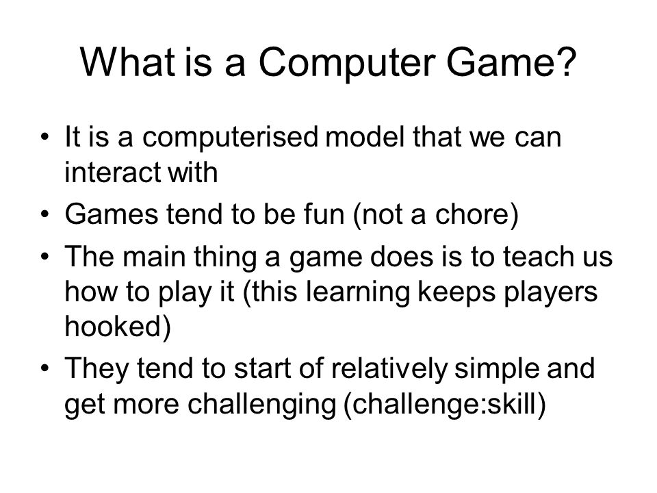What is a Computer Game.