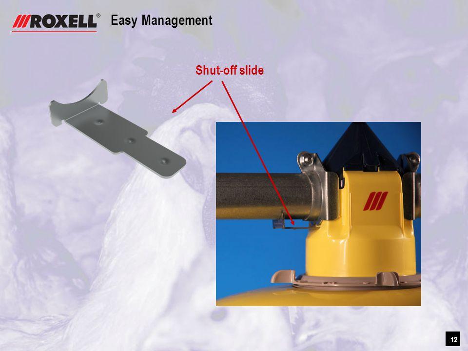 12 Easy Management Shut-off slide