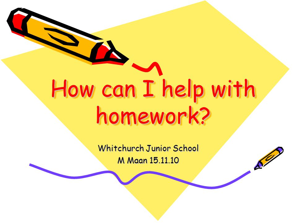 Don t let homework become a chore.