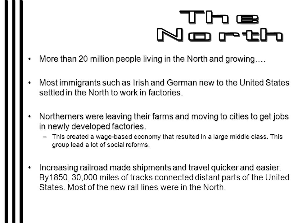More than 20 million people living in the North and growing….More than 20 million people living in the North and growing….