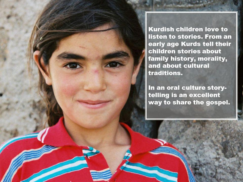 Kurdish children love to listen to stories.