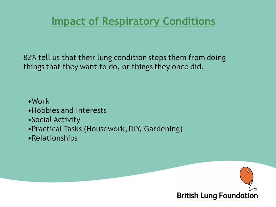 Support from the BLF in the West Midlands Support for anyone affected by any lung disease Commitment to implementation of COPD Strategy Support to the facilitation of the 'patient voice' in service commissioning and review