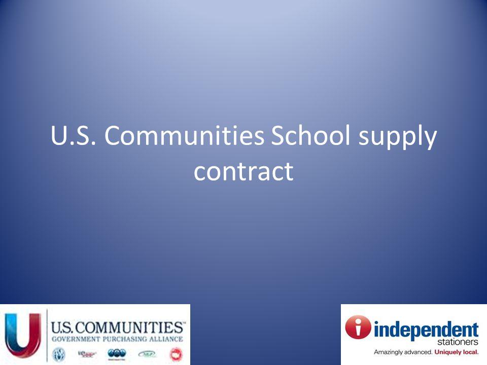 U.S. Communities School supply contract