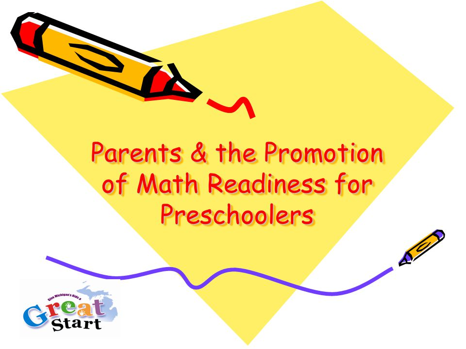 Parents & the Promotion of Math Readiness for Preschoolers