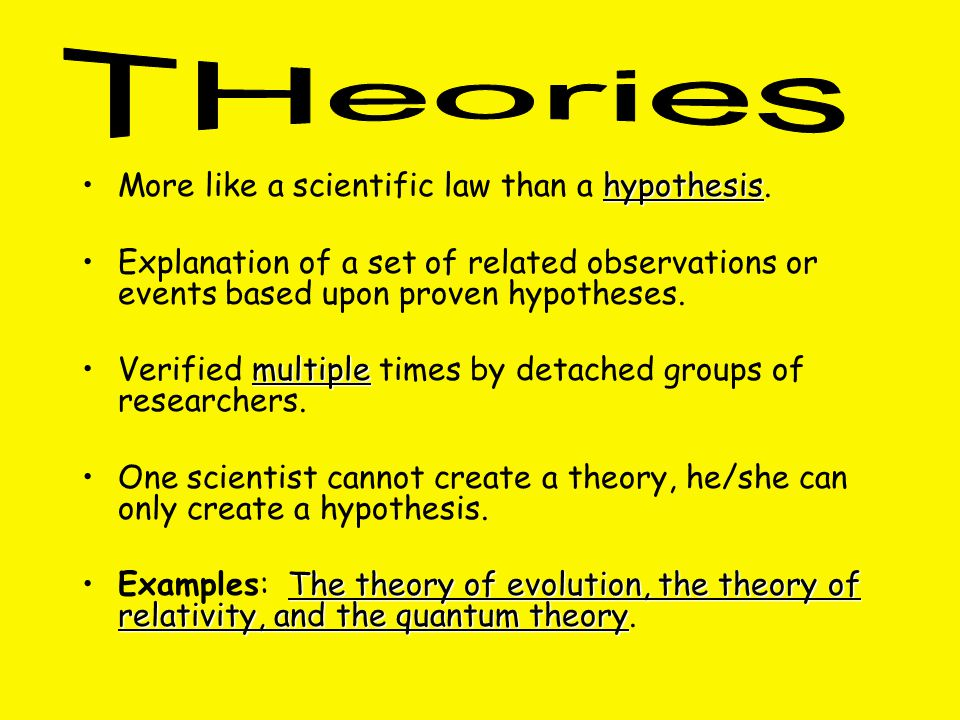 hypothesisMore like a scientific law than a hypothesis.