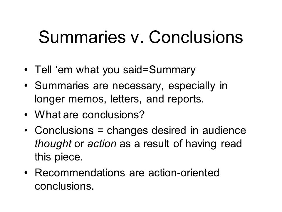 Summaries v.