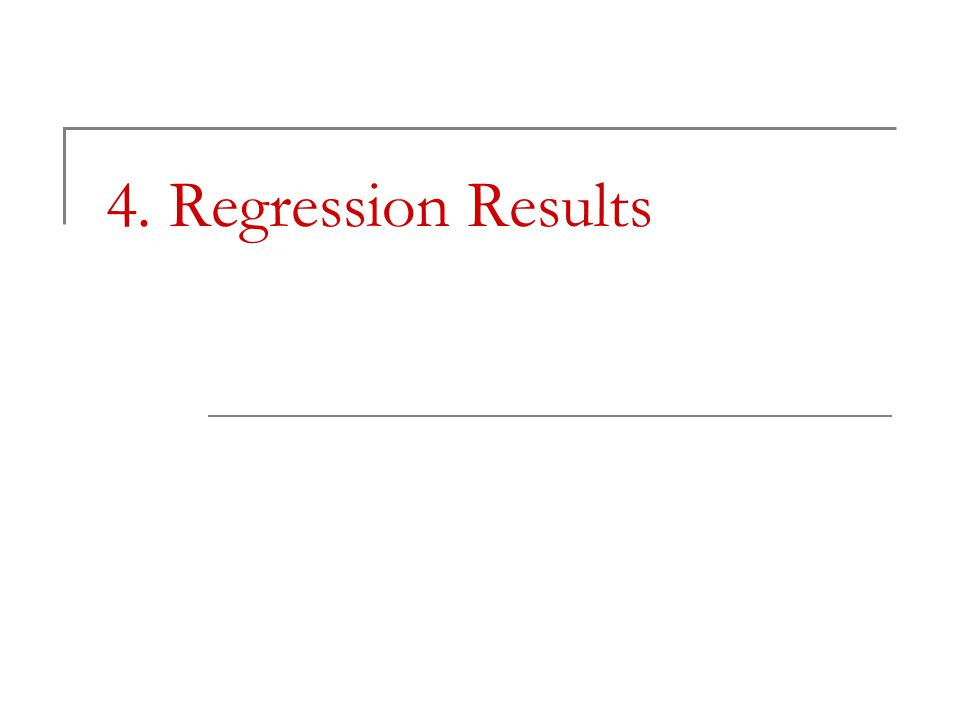 4. Regression Results