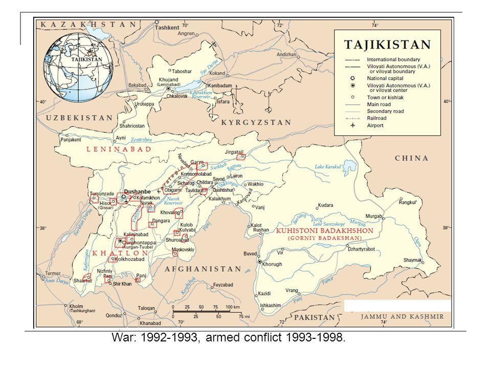 War: 1992-1993, armed conflict 1993-1998.