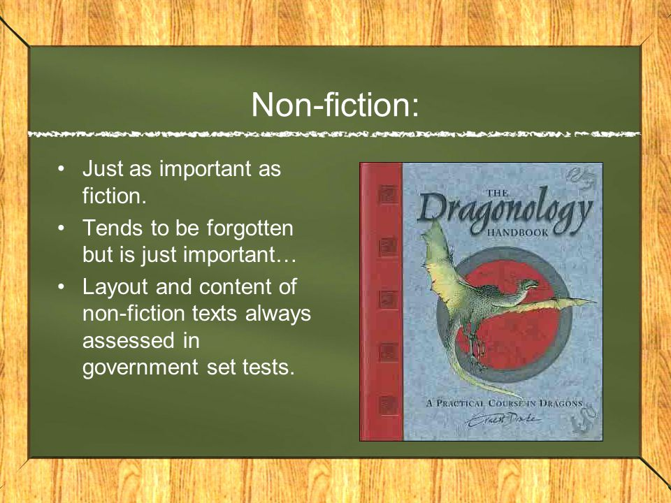 Non-fiction: Just as important as fiction.