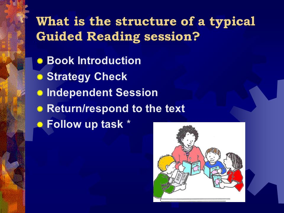 What is the structure of a typical Guided Reading session.