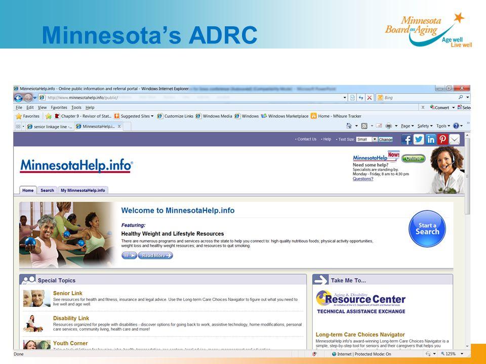 Minnesota's ADRC
